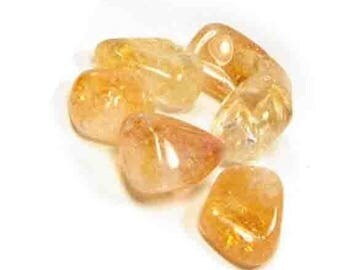 approximately 2 cm 1 stone rolled citrine for the creation of your jewelry gemstones