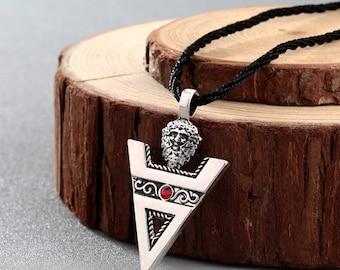 Beautiful necklace made of steel stainless Slavic amulet, Slavic symbol, Slavic triangle
