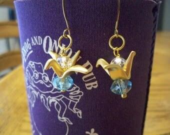 Gold Paper Crane Earrings SB20