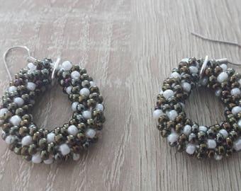 Crocheted beaded earrings