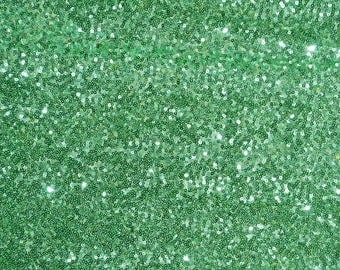 """52"""" Wide Glitz Mesh Sequins - MINT GREEN Sequin Glitz Fabric - Sold By The Yard - Mesh with Glitz Sequins Embroidery"""