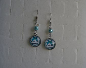 """""""The most beautiful moms"""" cabochon earrings"""