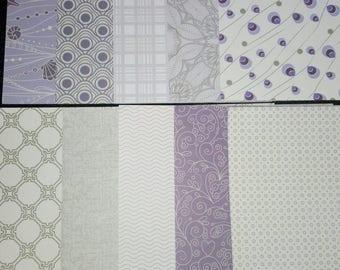 set of 10 sheets of paper scrapbooking 15 x 15 cm