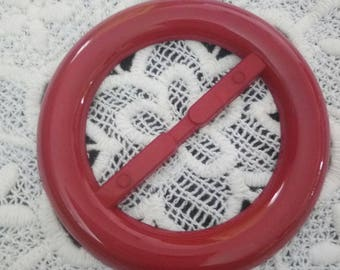 sliding belt buckle vintage plastic Ribbon passes