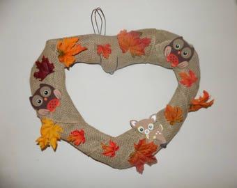 Heart Fall Wreath