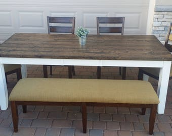 Rustic Transitional Farmhouse Dining Table Set