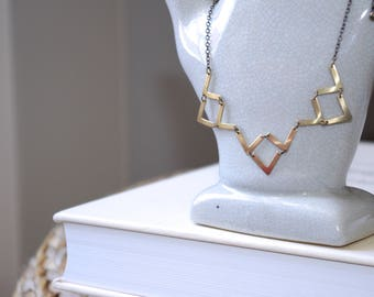 RETRO CHEVRON NECKLACE
