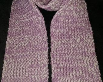 Purple and white scarf handmade