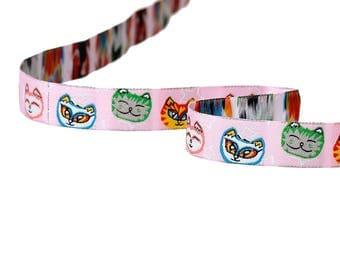 Theme cats multicolor 16mm - SC64657 - woven Ribbon