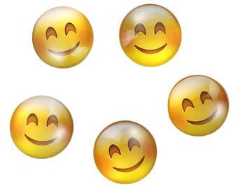 Lot 10 SC79925 pattern Emoji tongue to stick - 25mm glass Cabochons