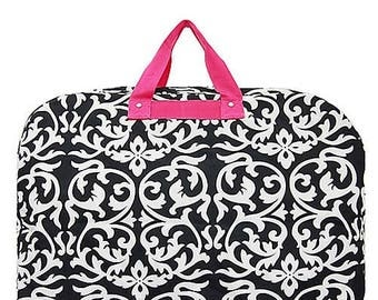 Black/White Damask Garment Bag