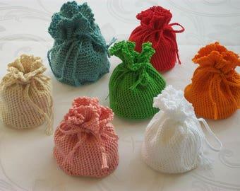 Handmade little crochet DrawString pouch