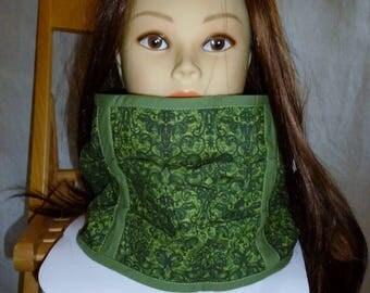 Snood neck polar green arabesque