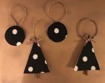 Polka Dot and Twine Ornaments