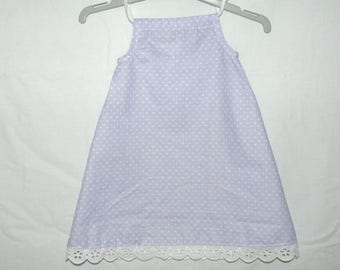 Grey polka dot dress baby 3 months
