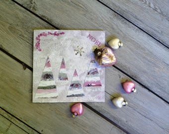 "Square greeting card ""Frosty Christmas"""
