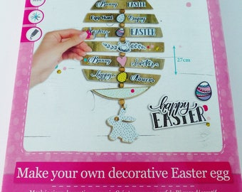 Kit to create and decorate a large 27 cm MDF Easter eggs