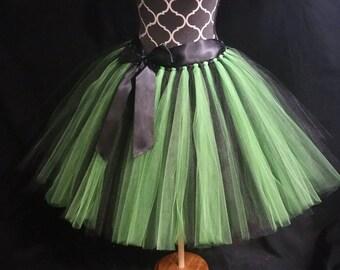Witch tutu** Halloween Orders Available **/ Halloween tutu/ Tutu costume/ 2 tone tutu ( sew in lining included)