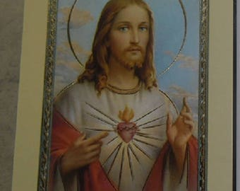 Holy picture sacred heart of Jesus 11.5 cm x 6,5 cm