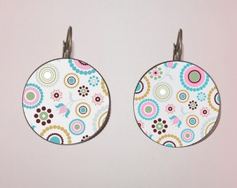 Earrings - fancy 'circles and flowers'