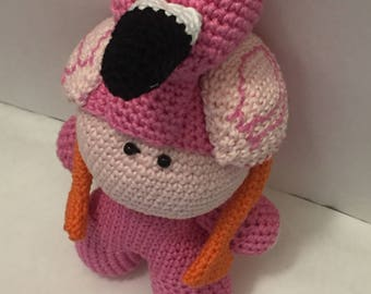Crochet Amigurumi Doll Flamingo