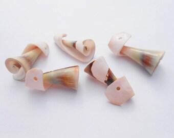 Pearl shell, 35 x 15 mm pendant