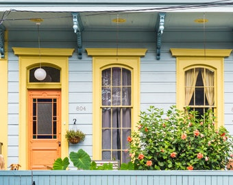 New Orleans Blue/Yellow home Greeting Cards