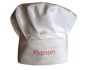 Chef hat, white, adjustable, for child