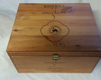 Re=purposed wooden wine box!