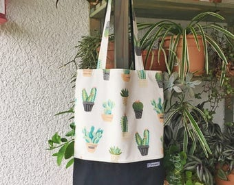 Two-side Shopper/Tote bag/Shopping bag Cactus