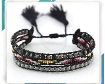 Assorted Woven and braided bracelets