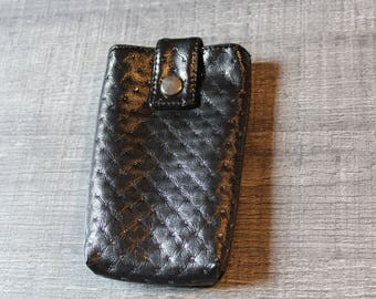 Chic black cell phone case