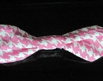 BOW tie BROOCH retro fabric bow