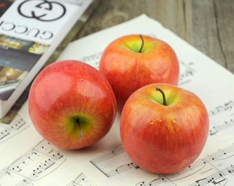 Artificial Apple / Artificial Fruits / Faux Apples / Fake Fruit / Fake Apple / Food Photography Props / Fake Food Props (AF2)