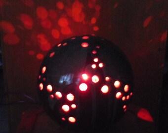 Globe light raku pottery copper Garland light purple sphere light fixture