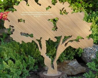 """Two welded Maple"" wooden tree"