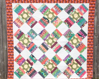 Modern Crosses - Machine Quilted Quilt