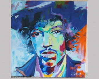 Jimi Hendrix.  Electric experience. Painting.