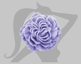 Eyelet 34mm Lavender resin flower cabochon