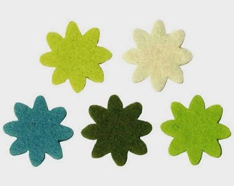 Mini flower felt Nature 2 cm x 20 piece!