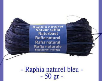 Natural raffia blue 50 g