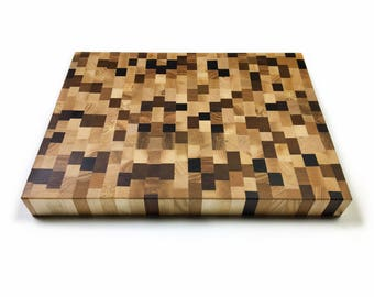 "End Grain Cutting Board ""Chaos"""