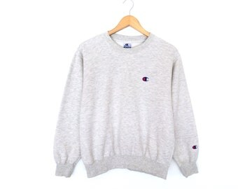 Champion Small Logo Embroidery Pullover Jumper Sweatshirt