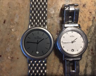 Skagen  denmark (2)ladies watches -16sssw/ 73LTXboth w/date running both for