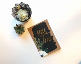 Grace Upon Grace Black Florals