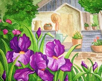 341 very beautiful garden 1 33 X 33 X 4 design paper napkin
