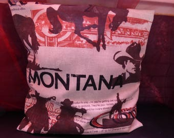 Cushion cover 40 x 40 western country cowboy vintage/retro
