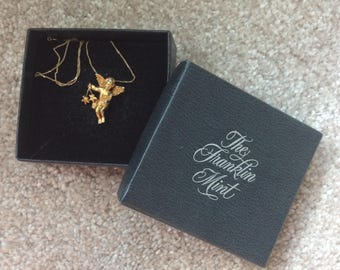 Franklin Mint - 24K gold plated Cherub necklace