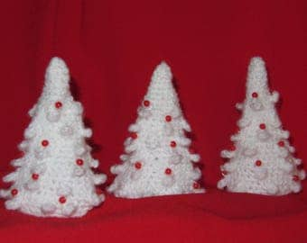 Christmas set 3 firs crochet