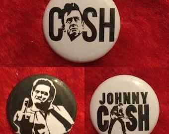 """Johnny Cash 1"""" button  lot"""